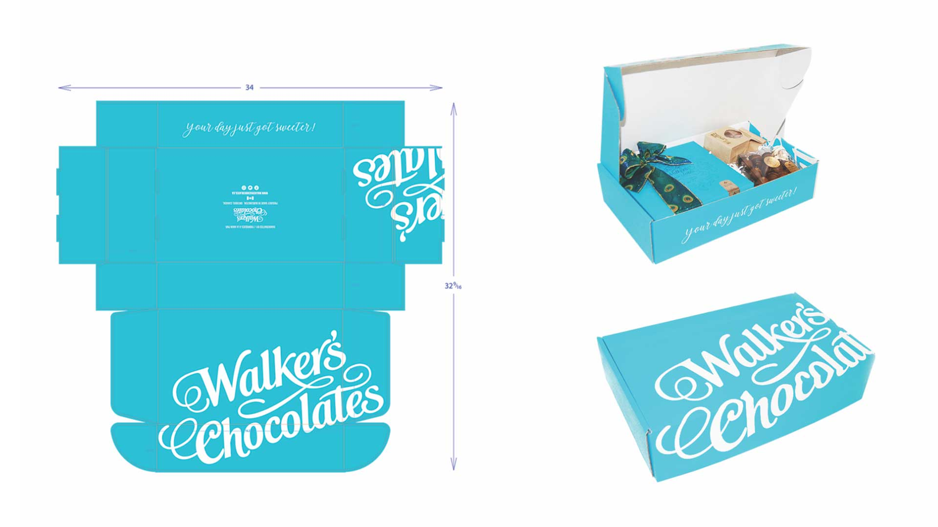 Walker's Chocolates box samples