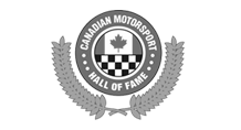Canadian Motorsport Hall of Fame Logo black and white
