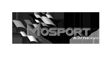 Mosport Kartways Logo Black and White