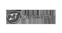 Zarr Tech Logo Black and White