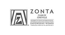 Zonta Club of Oakville Logo Black and White