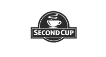 Second Cup Black and White Logo