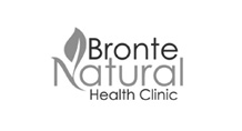 Bronte Natural Health Clinic Logo Black and white