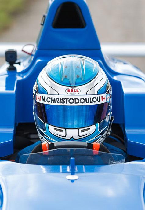 Nico Christodoulou image inside race car