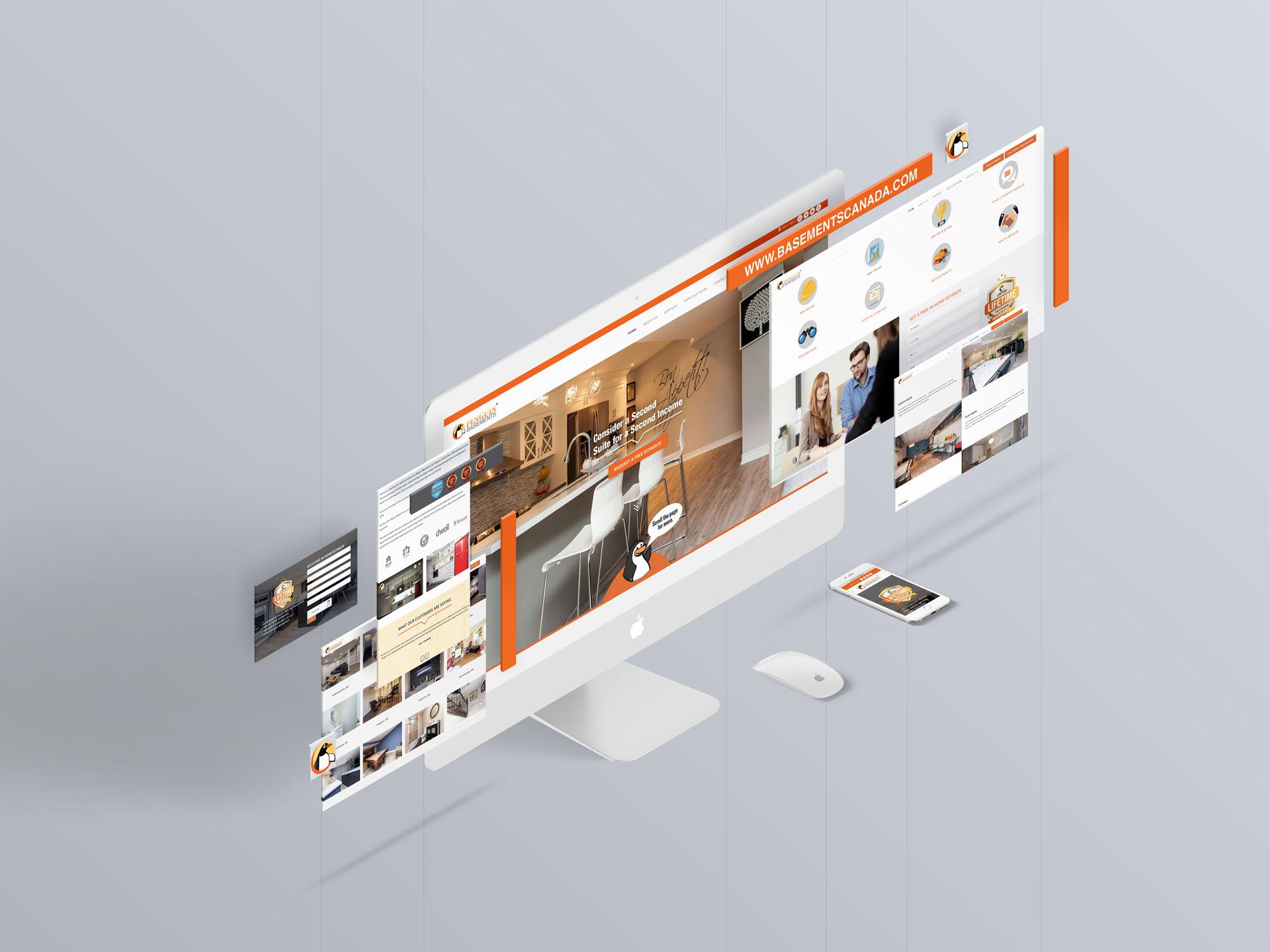 Penguin Basements Website Design & Layout