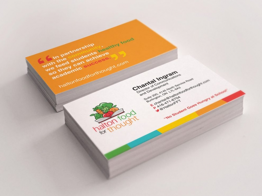Halton Food for Thought Business Cards